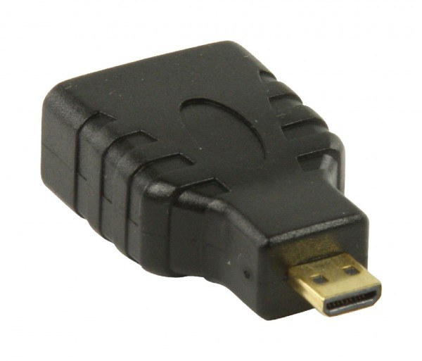 High-Speed-HDMI mit Ethernet-Adapter HDMI Micro Stecker - HDMI-Buchse Schwarz