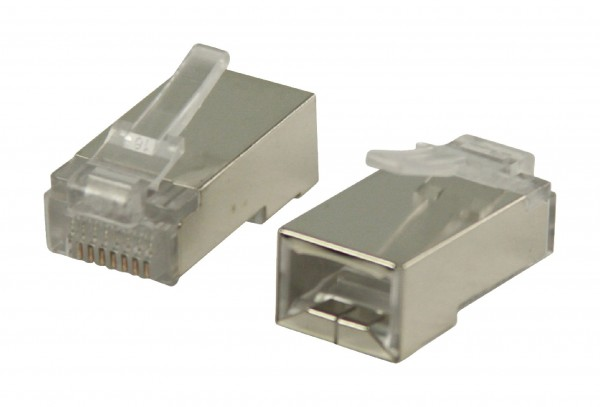 Stecker RJ45 Solid STP CAT5 Male PVC Transparent