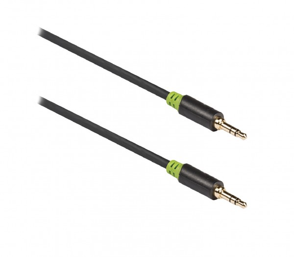 Stereo-Audiokabel 3.5 mm male - 3.5 mm male 0.50 m Anthrazit