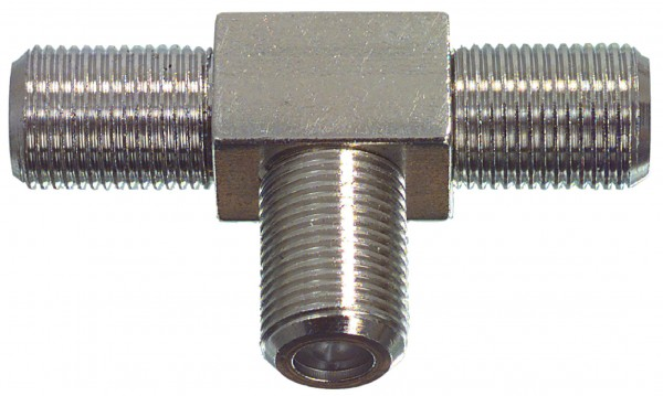 Coax-Adapter F F female - 2x F female Silber