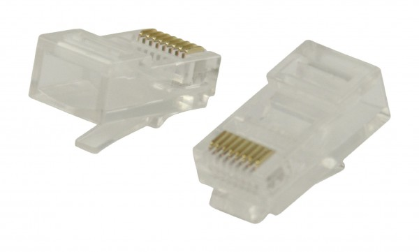 Stecker RJ45 Stranded UTP CAT5 Male PVC Transparent