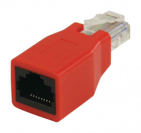 CAT5-Netzwerkadapter RJ45 (8P8C) male - RJ45 (8P8C) female Rot