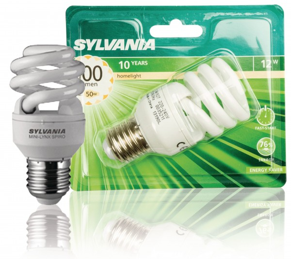 Leuchtstofflampe E27 Spiral 12 W 600 lm 2700 K