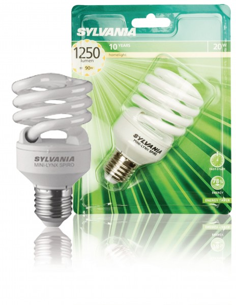 Leuchtstofflampe E27 Spiral 20 W 1250 lm 2700 K