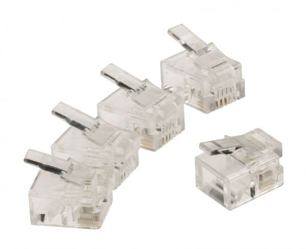 Telefondose RJ11 Male PVC Transparent