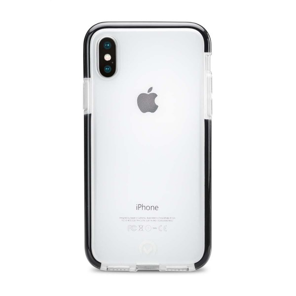 Telefon Shatterproof Case Apple iPhone X/Xs Transparent/Schwarz