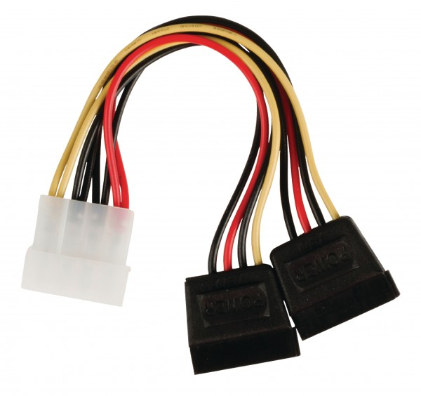 Interne Stromkabel Molex male - 2x SATA 15-pol. female 0.15 m