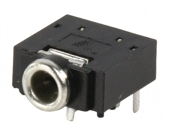 Audio-Stecker 3.5 mm Female PVC Schwarz