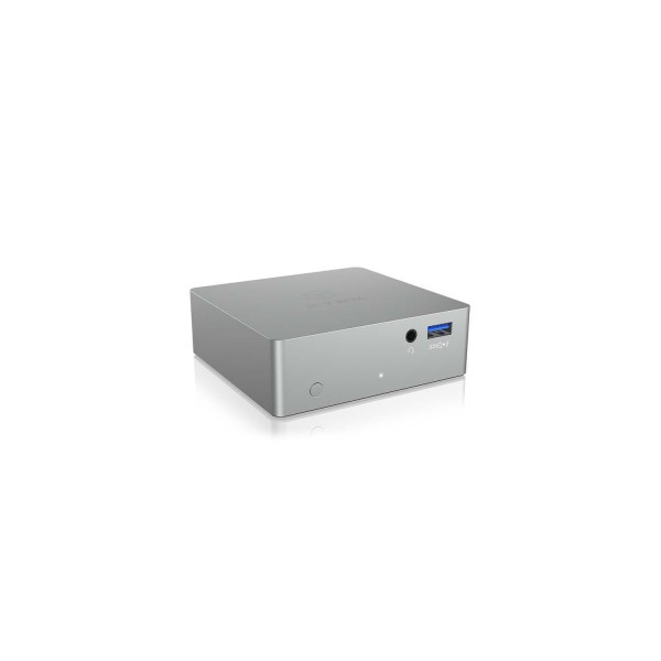 Dockingstation USB 3.0 Ethernet Silber